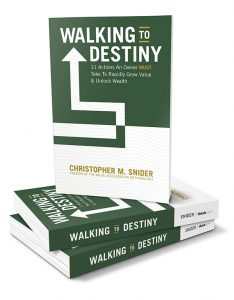 Walking to Destiny is the go-to book for business owners looking to transition their business and wealth successfully