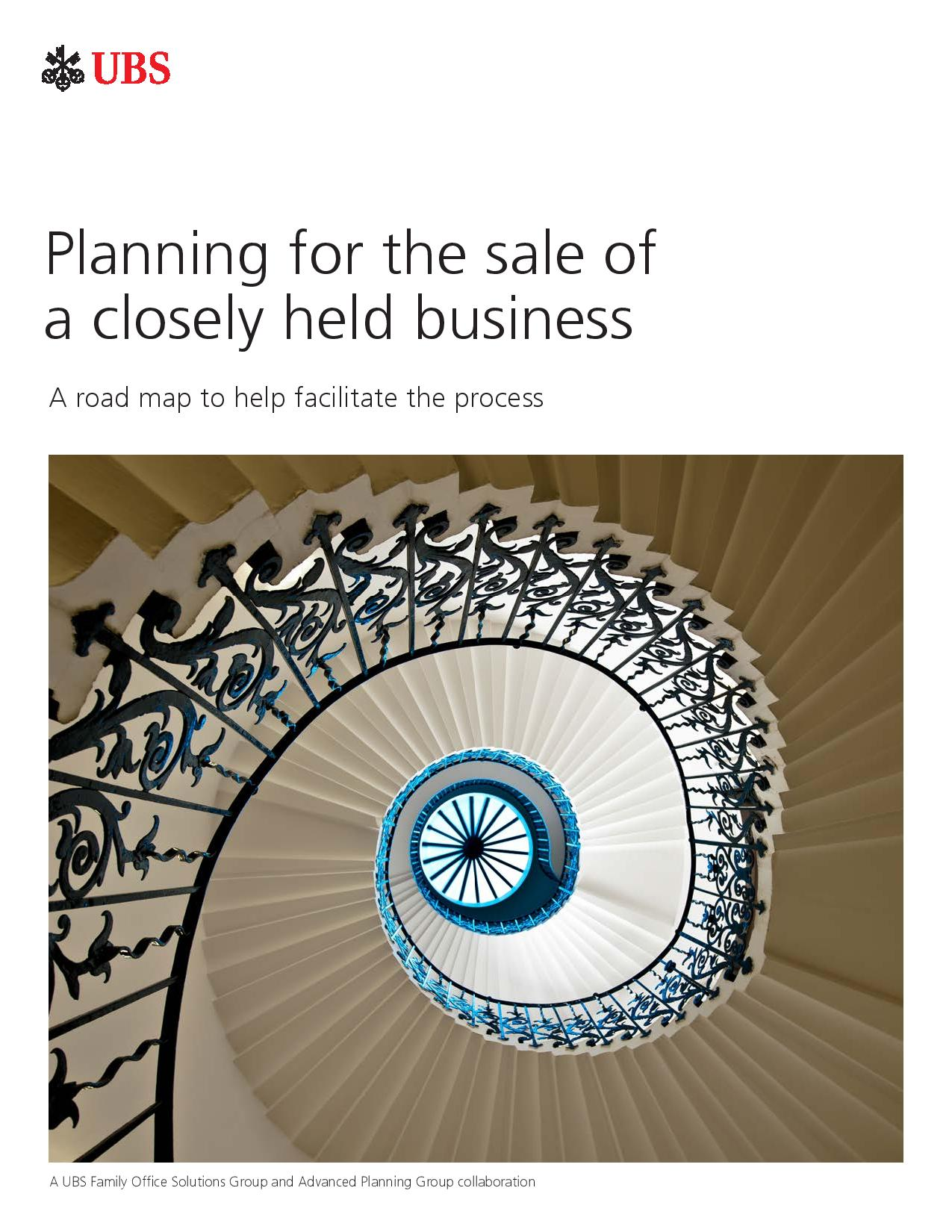 Planning for the Sale of a Closely Held Business