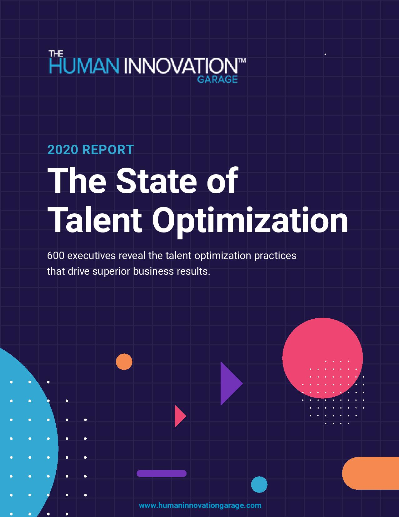 2020 Report: The <br> State of <br>Talent Optimization