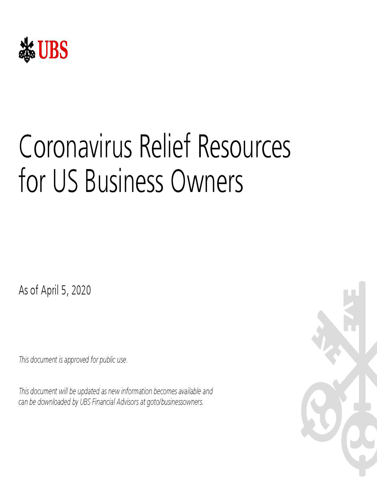 Coronavirus <br>Relief Resources