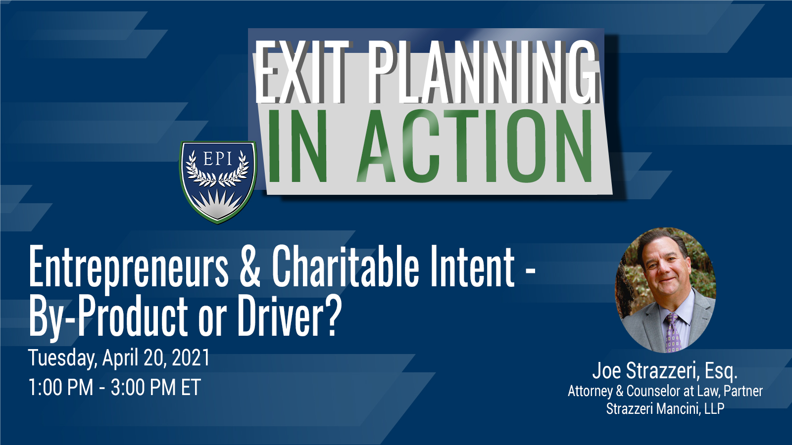 Entrepreneurs & Charitable Intent - By-Product or Driver?