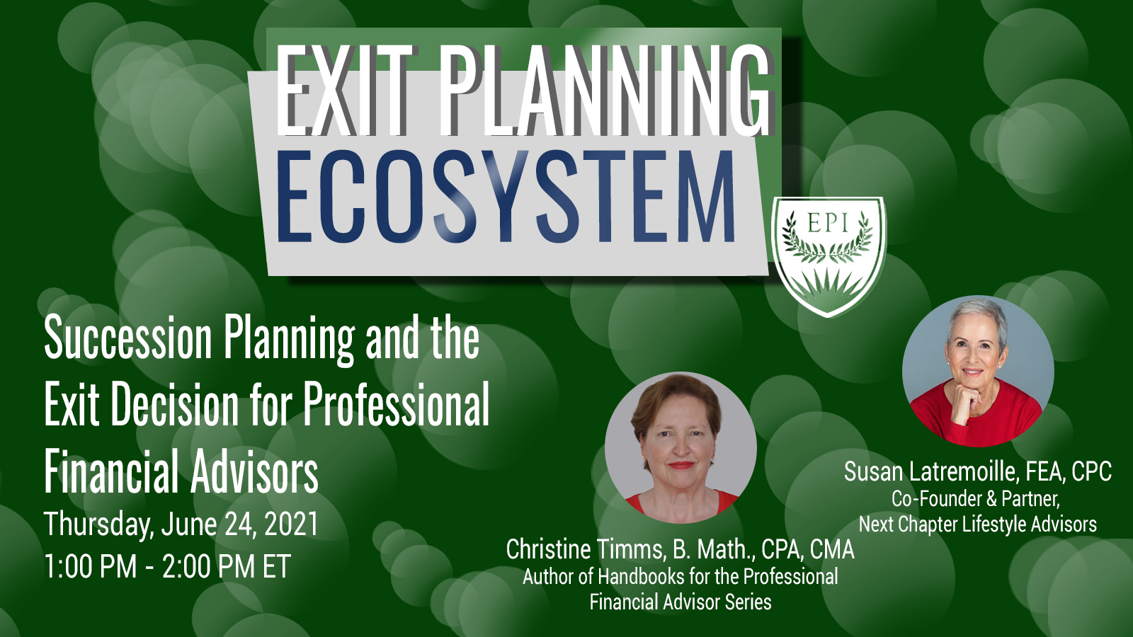 Succession Planning and the Exit Decision