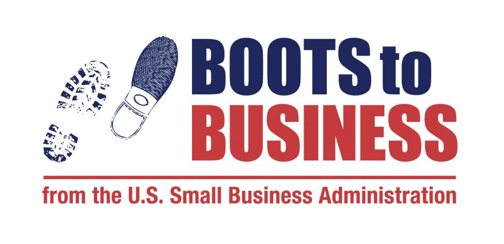 Boots to Business from the U.S. Small Business Administration Logo