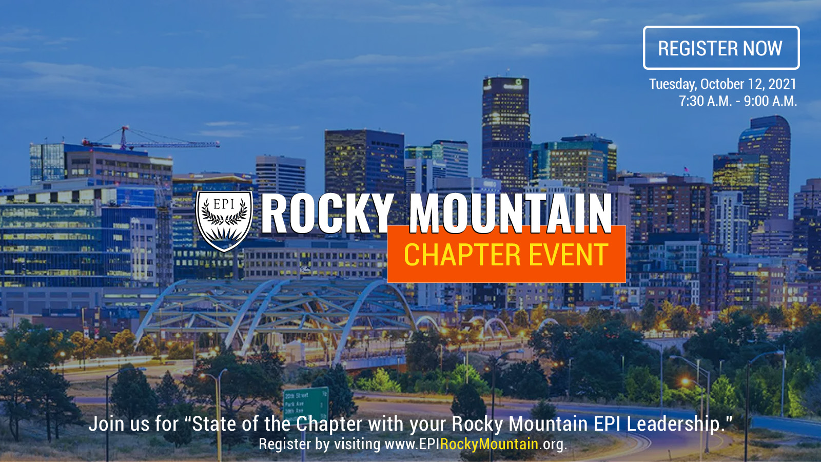 State of the Chapter with your Rocky Mountain EPI Leadership